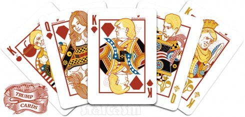 Donald Trump playing cards