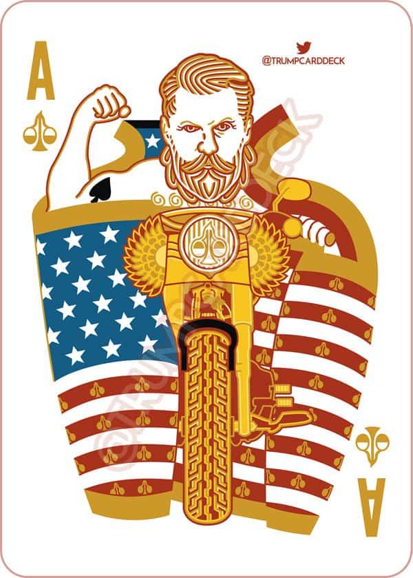 Gavin McInnes Trump playing card ace