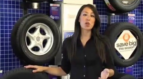 joanna gaines age and throwback firestone tire commercial