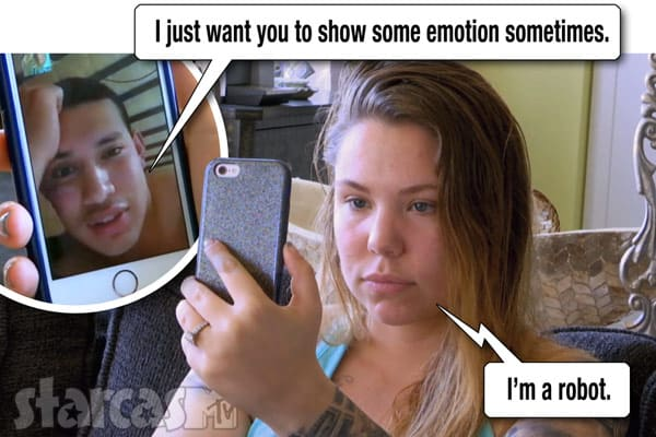Teen Mom 2 Kail Lowry I'm a robot quote