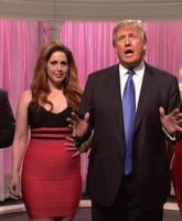 Donald Trump host the 41st season NBC's 'Saturday Night Live ' Donald joins the cast in a few sketches.  Featuring: Donald Trump, Vanessa Bayer, Bobby Moynihan, Cecily Strong Where: United States When: 09 Nov 2015 Credit: Supplied by WENN.com  **WENN does not claim any ownership including but not limited to Copyright, License in attached material. Fees charged by WENN are for WENN's services only, do not, nor are they intended to, convey to the user any ownership of Copyright, License in material. By publishing this material you expressly agree to indemnify, to hold WENN, its directors, shareholders, employees harmless from any loss, claims, damages, demands, expenses (including legal fees), any causes of action, allegation against WENN arising out of, connected in any way with publication of the material.**
