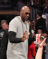 Celebrities at the Los Angeles Lakers game.The Los Angeles Lakers defeated the Miami Heat by the final score of 102-100 in overtime at Staples Center.  Featuring: Lamar Odom Where: Los Angeles, California, United States When: 30 Mar 2016 Credit: WENN.com