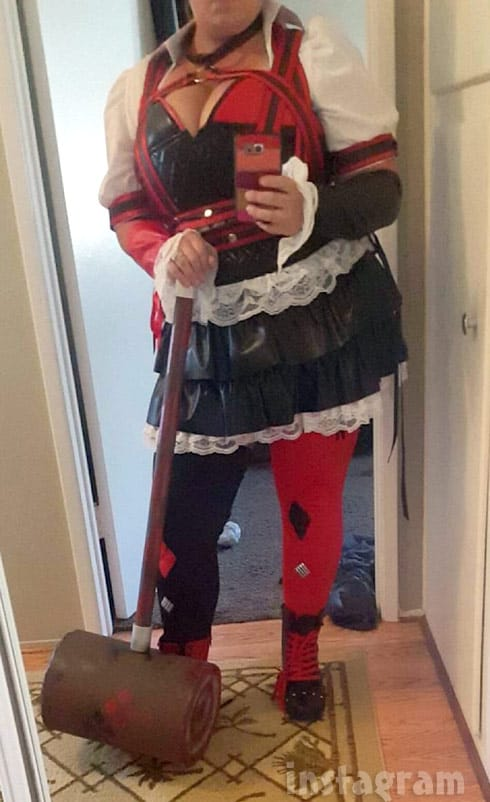 Catelynn Lowell Baltierra in a Harley Quinn costume at San Diego Comic-Con 2016