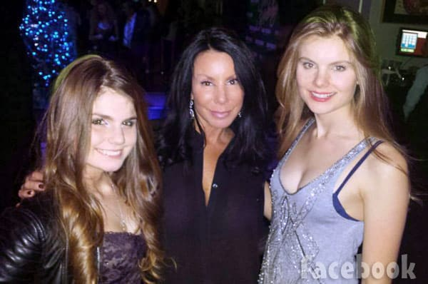 Danielle Staub and her daughters December 2015
