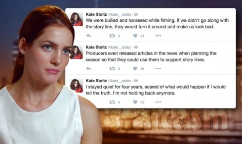 Kate Stoltz tweets about Return To Amish producers and TLC