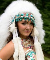 My Big Fat American Gypsy Wedding Hunter Native American wedding dress