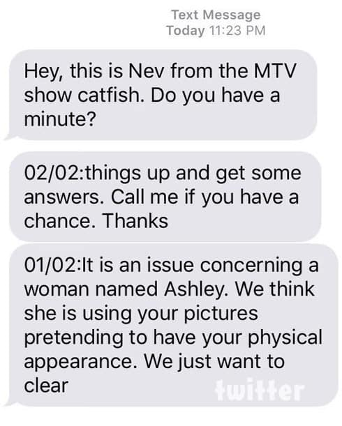 Nev Schulman Catfish text messages
