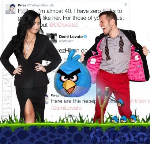 Perez Hilton Demi Lovato Twitter feud