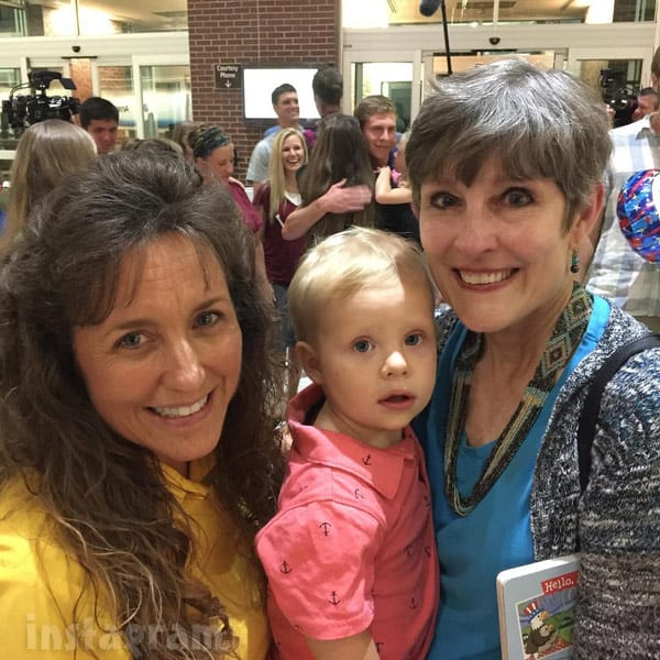 Israel Dillard with Michelle Duggar Derick's mom
