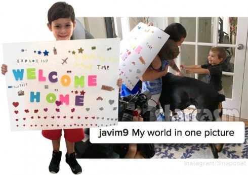 Javi Marroquin returns home from deployment