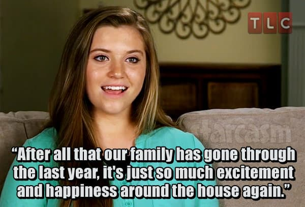 Joy-Anna Duggar quote about Josh Duggar aftermath