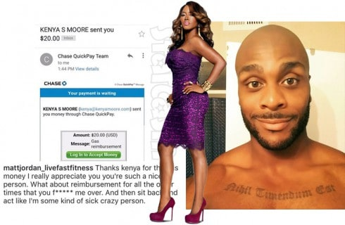 Kenya Moore Matt Jordan feud over airfare