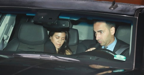 Kourtney Kardashian at SoHo house with mystery man in Los Angeles