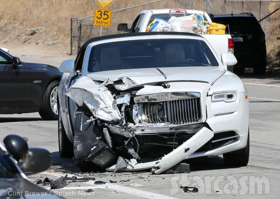 Kris Kardashian Car Crash
