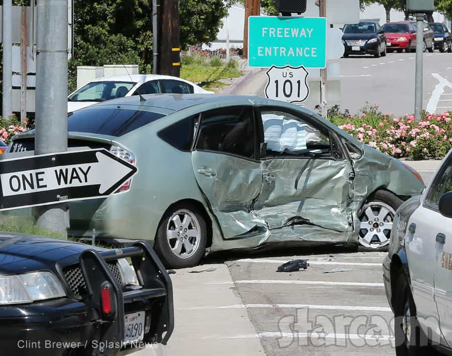 Kris Jenner car crash Prius