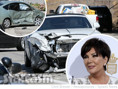 Kris Jenner car crash photos