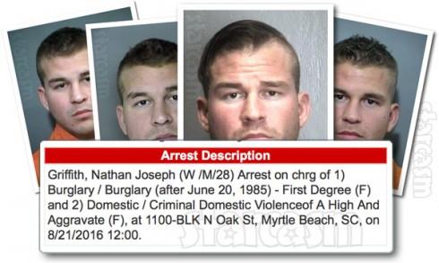 Nathan Griffith arrest mug shot photos 2016