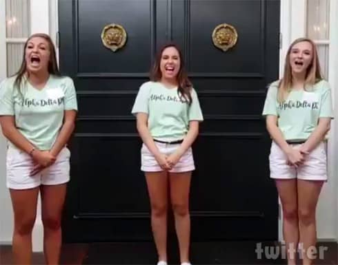 Viral Scary Alpha Delta Pi sorority video