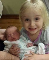 Chickadee Anna Cardwell daughters Kylee and Kaitlyn together