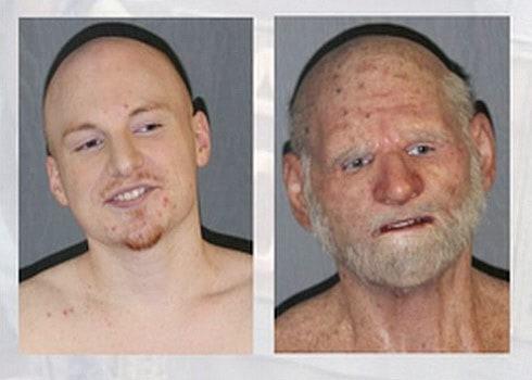 old man disguise arrest
