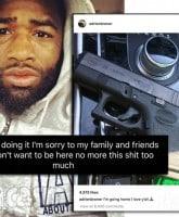 Adrien Broner suicide posts