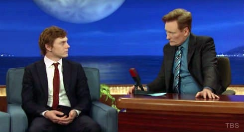 Evan Peters AHS on Conan O'Brien
