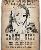 Love and Hip Hop Atlanta Karen King wanted poster