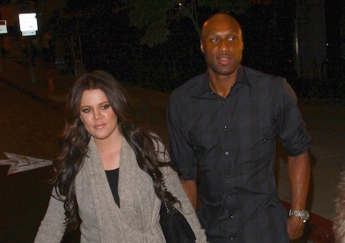 Khloe Kardashian and Lamar Odom are seen leaving 'Boa' steakhouse in Los Angeles
