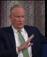 Bill O'Reilly during an appearance on CBS's 'The Late Show with Stephen Colbert.'