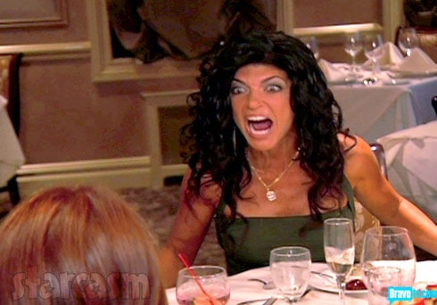 Teresa Giudice table flipping Real Housewives of New Jersey