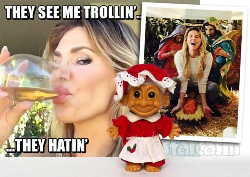 Brandi Glanville nativity scene Facebook photo troll