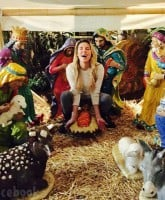 Brandi Glanville nativity scene photo