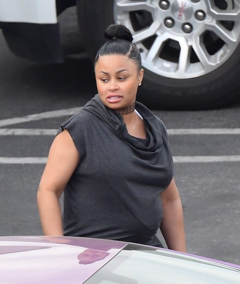 Pregnant Blac Chyna arrives at the 'Dancing With The Stars' studios