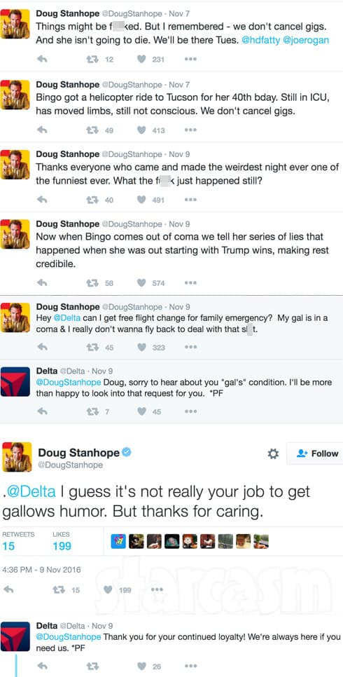 doug stanhopes girlfriend bingo in a coma after birthday