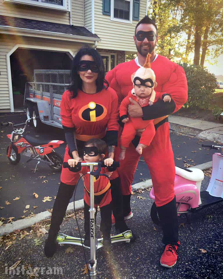 JWoww family The Incredibles costumes