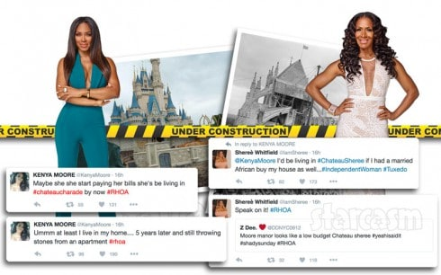 Kenya Moore vs Sheree Whitfield over Moore Mansion vs Chateau Sheree