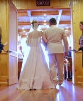 Maci Bookout wedding back view