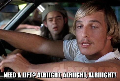 Matthew McConaughey designated driver University of Texas