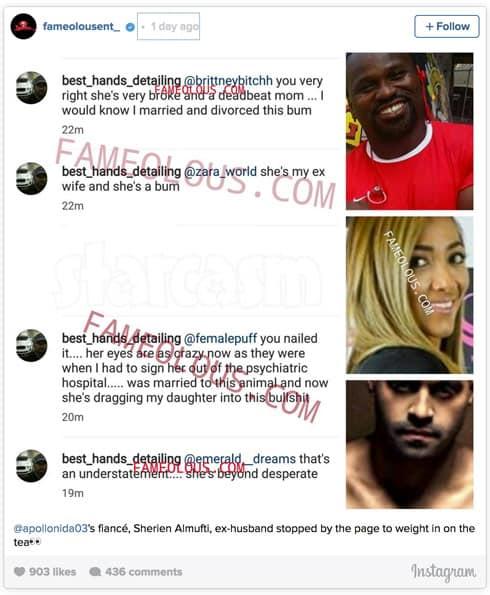 Sherien Almufti ex-husband Fameolous Instagram