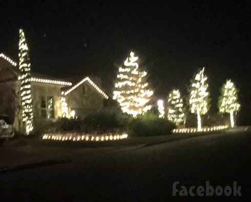 Farrah Abraham's house at Christmas