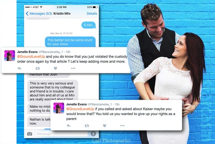 Jenelle Evans Nathan Griffith Kaiser custody tweets
