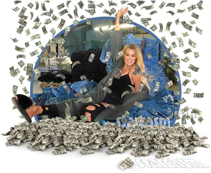 Khloe Kardashian money Good  American denim jeans