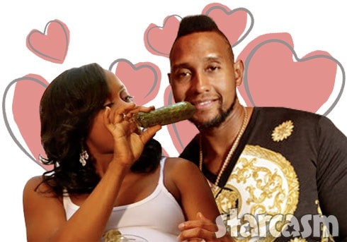 Phaedra Parks dating Tim Norman eating a pickle