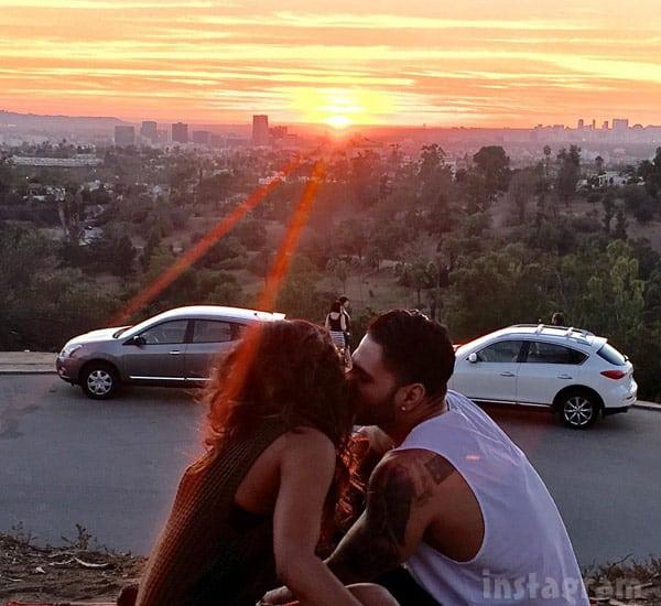 Ronnie Magro and Malika Haqq kissing