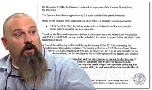 Todd Hoffman Colorado mine facing fines for permit violation