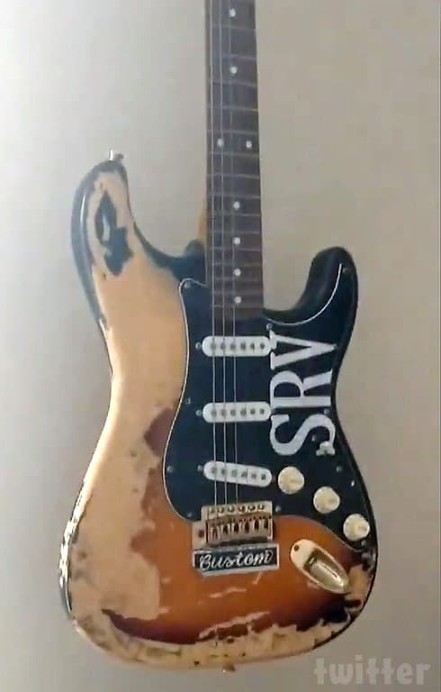 Amber Portwood's Stevie Ray Vaughan replica guitar