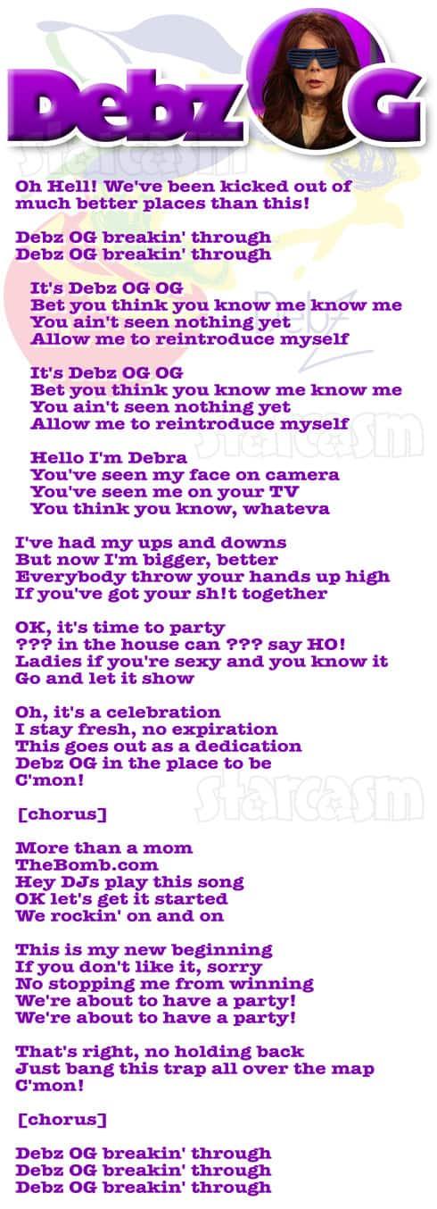 Debra Danielsen Debz OG rap song lyrics