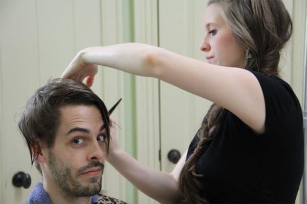 Derick Dillard gets a haircut