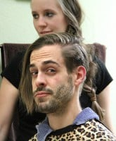 Derick Dillard hair