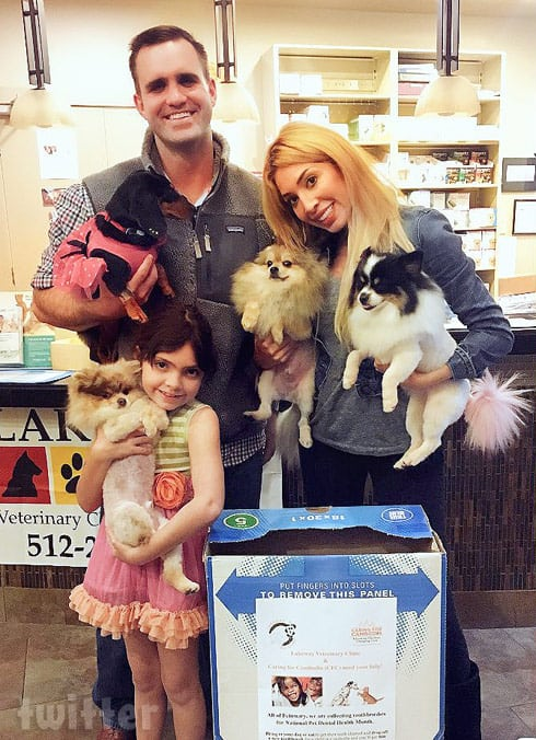 Farrah Abraham and Sophia's dog spa day for charity
